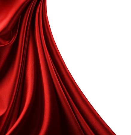 Red Silk Border.Isolated on white