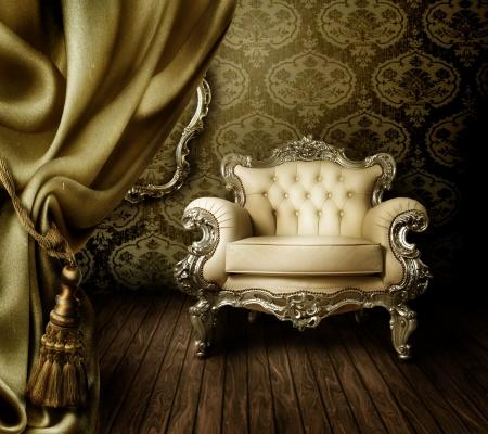 Photo pour luxurious Old Styled Interior  - image libre de droit