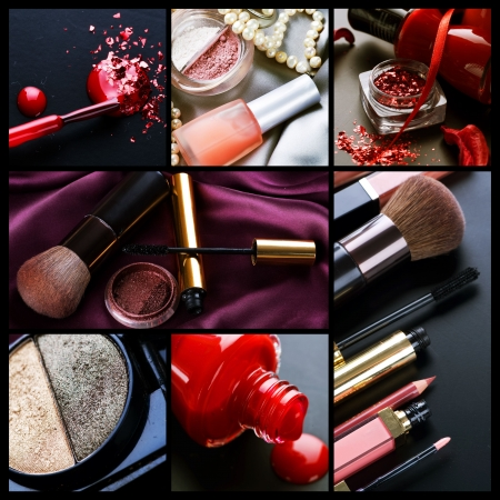 Professional Make-up collage の写真素材