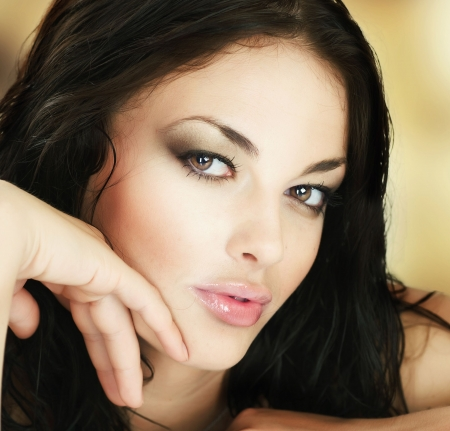 Beautiful Young Woman's Face