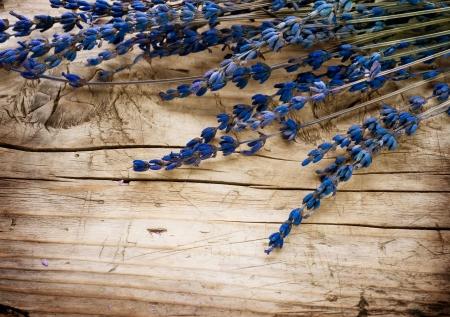 Lavender Spa over wood background
