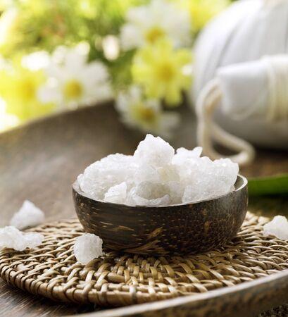 Spa treatment.Sea Salt