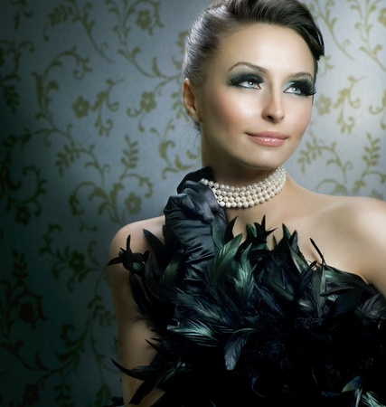 Romantic Beauty Portrait.Beautiful Luxury Girl