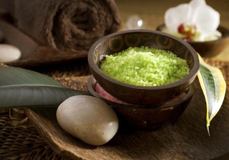 Spa treatments.sea salt