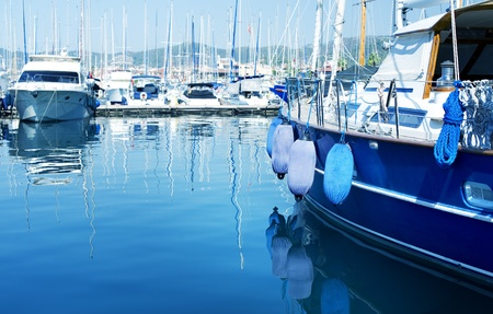 Photo for Yachts in the harbor  - Royalty Free Image