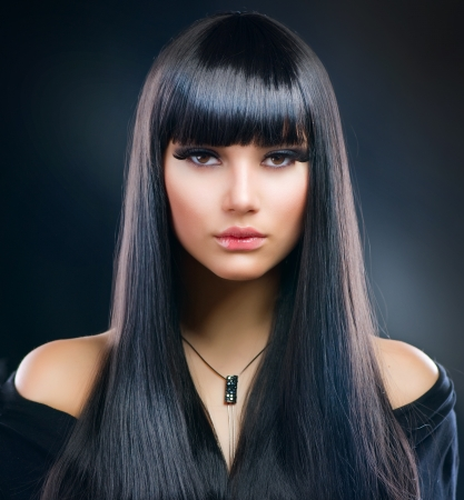 Photo for Beautiful Brunette Girl. Healthy Long Hair  - Royalty Free Image
