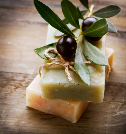 Natural Handmade Soap and Olives