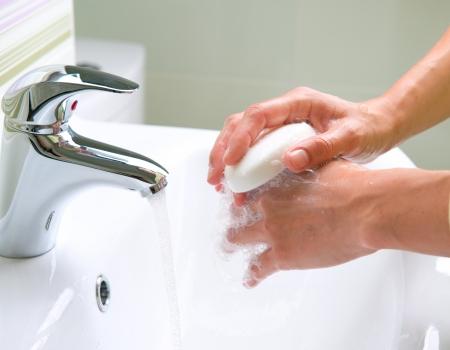 Photo pour Washing Hands  Cleaning Hands  Hygiene - image libre de droit