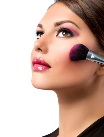 Makeup  Make-up Applying  Rouge  Blusher