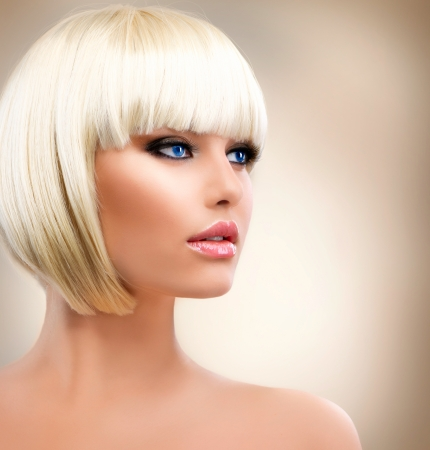 Blonde Girl Portrait  Blond Hair  Hairstyle  Stylish Make-up