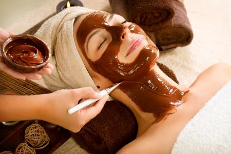 Photo for Chocolate Mask Facial Spa  Beauty Spa Salon  - Royalty Free Image