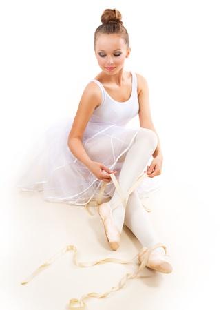 Ballerina  Pretty Ballet Dancer Wearing Pointes  Ballet Shoes