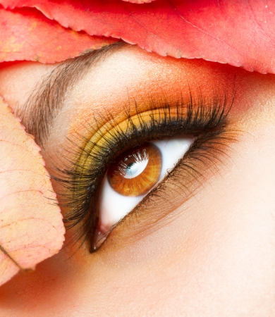 Autumn Makeup  Fall Make-up Closeup