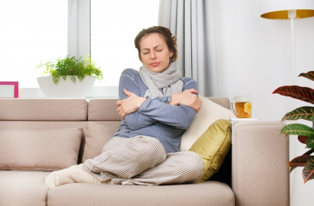 Sick Woman  Flu  Woman Caught Cold