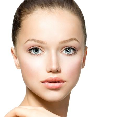 Beauty Model Girl Portrait  Beautiful Woman Face