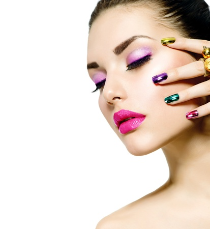 Fashion Beauty  Manicure and Make-up  Nail Art の写真素材