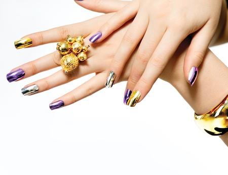 Manicure  Fashion Metallic Nail polish