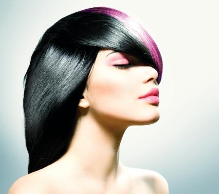 Photo pour Fashion Hair  Hairstyle  - image libre de droit