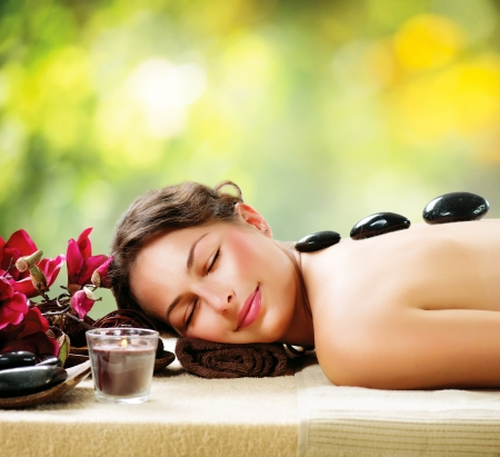 Foto de Spa Salon  Stone Massage  Dayspa  - Imagen libre de derechos
