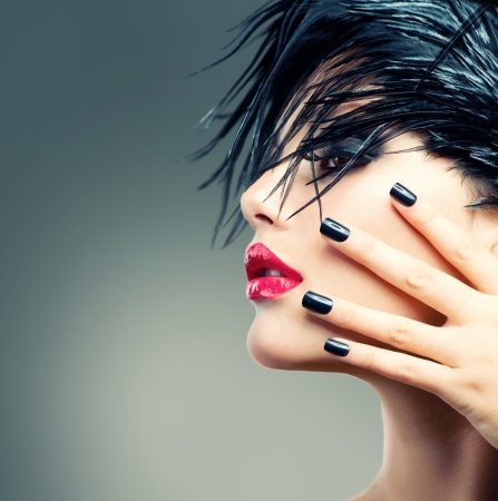 Photo for Fashion Art Girl Portrait  - Royalty Free Image