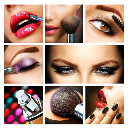 Makeup Collage  Professional Make-up Details  Makeover