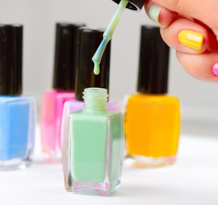 Nail Polish  Manicure  Colorful Nail Polish Bottles