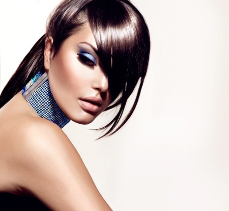 Foto de Fashion Beauty Girl  Gorgeous Woman Portrait  - Imagen libre de derechos