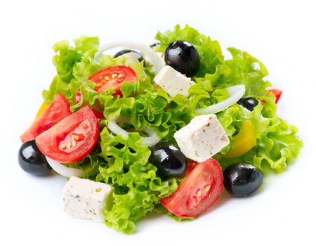 Greek Salad isolated on a White Background