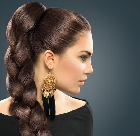 Bride hairstyle  Beautiful Woman with Healthy Long Hair