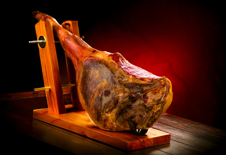 Jamon serrano. Traditional spanish ham. Hamon iberico