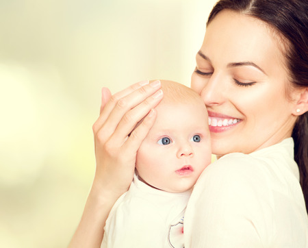Happy mother and her newborn baby. Maternity conceptの写真素材