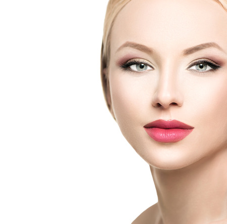 Photo for Beautiful blonde woman face close up - Royalty Free Image