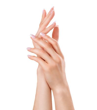 Photo pour Beautiful female hands. Spa and manicure concept - image libre de droit