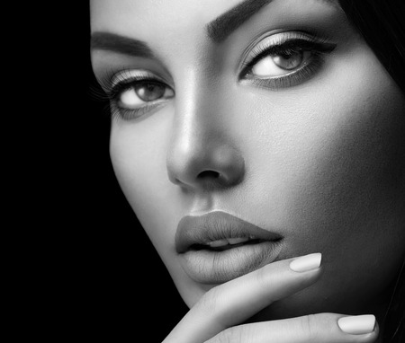 Photo for Beauty fashion woman portrait with perfect skin, makeup and nails - Royalty Free Image