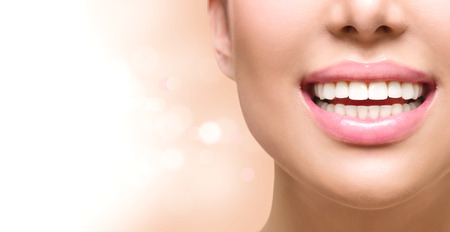 Foto de Healthy smile. Tooth whitening. Dental care concept - Imagen libre de derechos