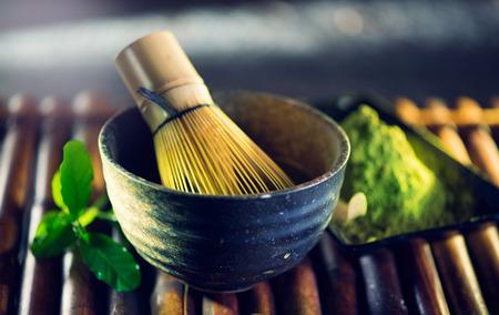 Foto für Matcha powder. Organic green matcha tea ceremony - Lizenzfreies Bild