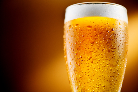 Photo pour Beer. Glass of cold craft beer with water drops - image libre de droit