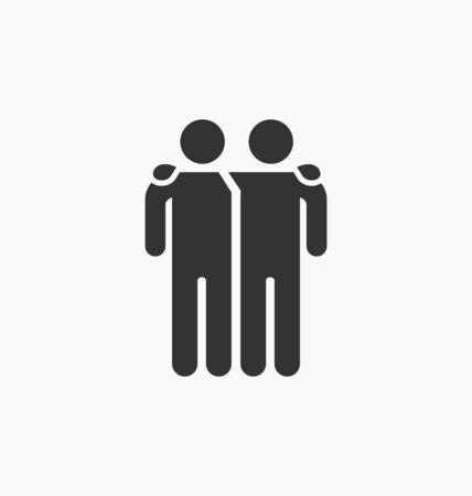 Illustration pour Friends icon illustration - image libre de droit