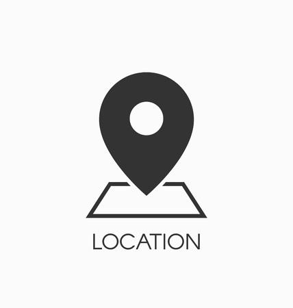 Illustration pour Location icon vector sign. - image libre de droit