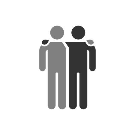 Illustration pour Friends icon vector illustration isolated on white background. Friendship sign. Best friend symbol. - image libre de droit
