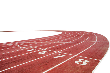 Photo for Running race track background with white copy space - Royalty Free Image