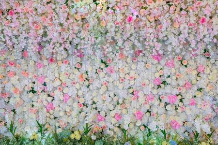 Foto de Beautiful flowers background for wedding scene Decoration - Imagen libre de derechos