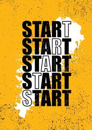 Illustration pour Creative Strong Vector Rough Typography Grunge Wallpaper Poster Concept With Brush Stroke - image libre de droit