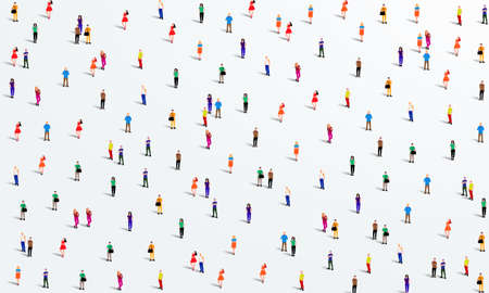Illustration for Large group of people on white background. People crowd concept. Vector illustration - Royalty Free Image