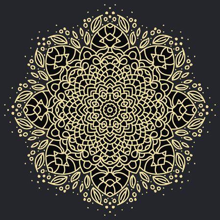 Photo pour Ancient geometric mandala - image libre de droit