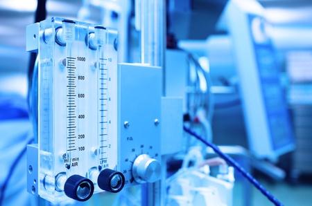 Foto de medical equipment  Gas mixer  Stylized photo  - Imagen libre de derechos