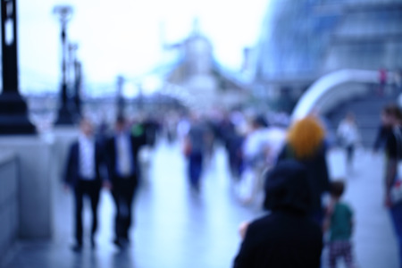 Photo for Movement of people in the big city. Abstract photo for background - Royalty Free Image