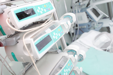 Medical equipment in the ICU ward