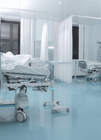 Chamber of infectious patient in hospital.