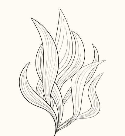 Illustration pour Fire flames or abstract plant - image libre de droit
